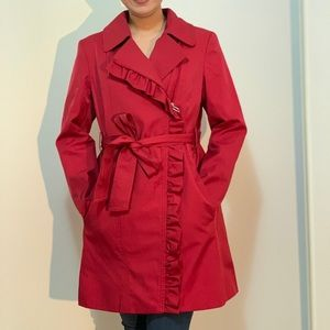 Cleo brand Red Trench Coat